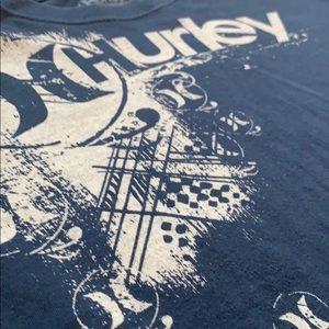 men's navy blue hurley tee